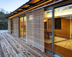Sliding timber screens