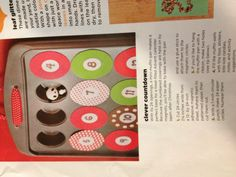 Homemade Advent Calendar...mini muffin tin, magnets, and little treats!