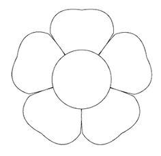 Paper Flower Backdrop, Paper Flowers Diy, Felt Flowers, Applique Patterns, Beading Patterns, Flower Patterns, Flower Shape, Flower Art, Flower Pattern Drawing
