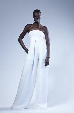 Model Aluad Anei for Greta Constantine SS 2016 #GlobalBlackModels