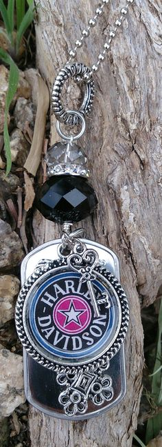 Harley Davidson Dog Tag Necklace Stainless Steel by Secret Stash Boutique, $29.00  www.etsy.com/shop/secretstashboutique