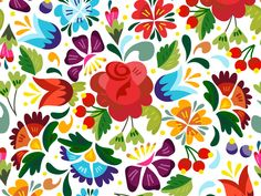 Russian Floral Pattern by Marusha
