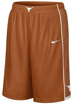 Texas Longhorns Orange Youth New Nike College Screen Printed Replica Basketball Shorts