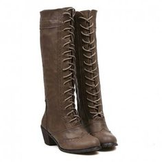 Fashion Openwork and Zipper Design Knee-High Boots For Women, CAMEL, 40 in Boots | DressLily.com