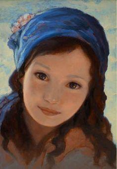 """Ken Hamilton, """"Girl with a Blue Scarf"""""""