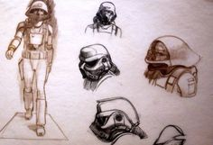 Original sketches of Imperial Storm Troopers by artist Ralph McQuarrie
