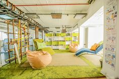 This hip office in Belgrade features different work zones for maximum productivity. #officeenvy