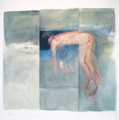 Betty Goodwin, so-certain I was Iwas a horse, 1984-85, oil pastel, pastel oil and charcoal on vellum, 323,5x327 cm