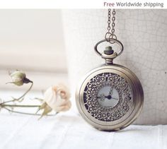 Vintage-style pocket from Etsy - sooo col! http://www.etsy.com/listing/67452397/vintage-style-pocket-watch-alice-in