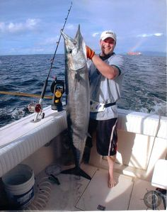 Jessie with a huge Wahoo caught in Trinidad and Tobago