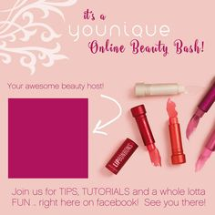 It's a Younique Online Beauty Bash www.youniqueproducts.com/sarahbryden