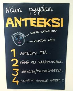 Idea: Linda Izadi, Alakoulun aarreaitta,FB School Classroom, School Fun, Pre School, Finnish Language, Future Jobs, Think, Classroom Inspiration, Social Skills, Classroom Management