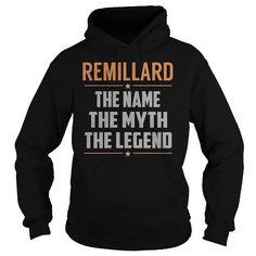 Cool REMILLARD The Myth, Legend - Last Name, Surname T-Shirt T-Shirts