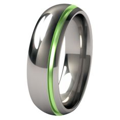 Bumblebee Single Groove Colored Titanium Wedding Ring