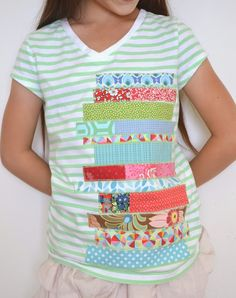 Tshirt makeover for the book lover - Brassyapple.com #sewing