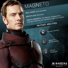 #MichaelFassbender is young #Magneto, a man driven by and survival. #XMen pic.twitter.com/VFNo6ojyqT