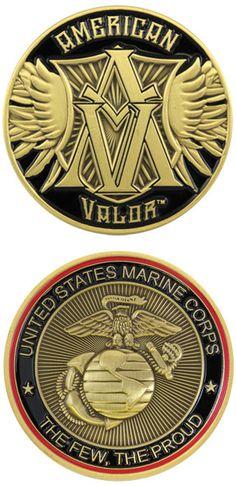 US Marines American Valor Challenge Coin - Meach's Military Memorabilia & More