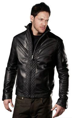 Mens Leather Jackets Motorcycle Bomber Biker Genuine Lambskin 43