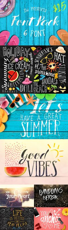 It's summer alright -- grab this sweet font pack at 40% off!