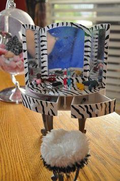 Bratz Doll Furniture Zebra Vanity Stool Accessories Barbie Monster High | eBay