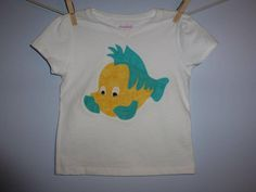 The LIttle Mermaid FLouNDeR Princess Custom Boutique T SHIRT Tee HoLiDaY Vacation Fish by EnchantedStitches528 on Etsy