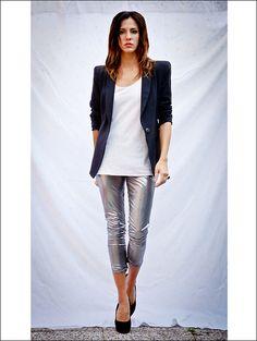 metallic leggings...why not