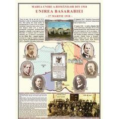 Unirea Basarabiei cu Romania la 1918 1 Decembrie, Romania, Baseball Cards, Education, December, Onderwijs, Learning