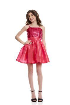 Un Deux Trois Sequin/Taffeta Party Dress Style: T2183KT