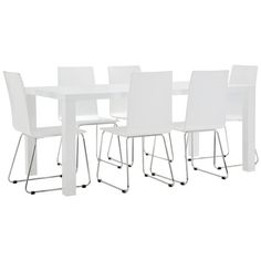 White table with chairs.   Very nice in real life.  $599 Aus