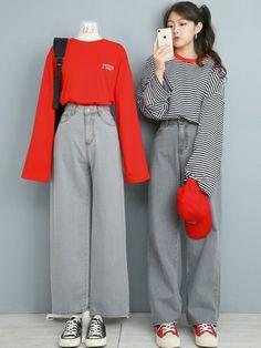 Moda Outfits, Kpop Outfits, Korean Outfits, Trendy Outfits, Cute Outfits, Cute Fashion, Look Fashion, Teen Fashion, Fashion Outfits