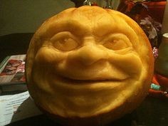 Pumpkin carved by my awesome husband.
