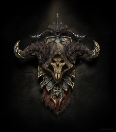 diablo 3 - demon hunter shield, ricardo luiz mariano on ArtStation at http://www.artstation.com/artwork/diablo-3-demon-hunter-shield