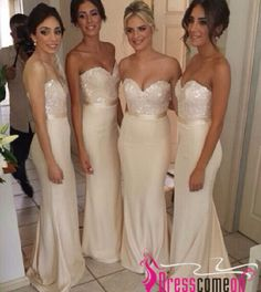 Cheap bridesmaid dress with jacket, Buy Quality dress korean directly from China bridesmaid dress purple Suppliers: 2015 Ivory Long Bridesmaid Dresses vestidos de fiesta with Sequins Bodice Cheap Mermaid Wedding Party Dresses Hot Sale Bridesmaid Dresses Long Champagne, Mermaid Bridesmaid Dresses, Wedding Bridesmaid Dresses, Mermaid Dresses, Wedding Party Dresses, Sequin Bridesmaid, Party Gowns, Bridesmaid Ideas, Bridal Dresses