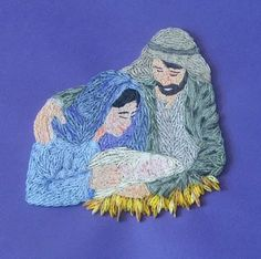 quilling - And His name shall be called Wonderful,...  I'd love to do a series of nativity scenes in various art & needlework media