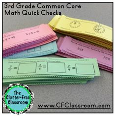 A Quick Effective Way to Check Math Proficiency {3rd grade, Common Core, Report Cards, End-of-Year Review}