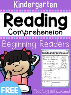 FREE Reading Comprehension For Beginning Readers
