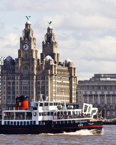 Mersey Ferry Boat and Liver buildings, Liverpool, England, UK   |   Amazing Photography Of Cities and Famous Landmarks From Around The World