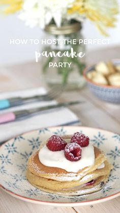 Celebrating Shrove Tuesday this year? Check out my tips on hosting the perfect pancake party plus how to make these raspberry and Greek yoghurt pancakes!