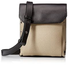 Women's Cross-Body Handbags - Kenneth Cole New York Womens Cooper Street Small CrossBody MushroomBlack -- Continue to the product at the image link.