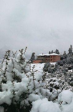 Vitina in snow.. Arcadia (Peloponnese), Greece