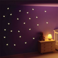 Buy Glow in the Dark Butterfly Wall Stickers from our Children's Room Stickers range at Red Candy, home of quirky decor. Butterfly Room, Butterfly Wall Decor, Butterfly Wall Stickers, Butterfly Kids, Wall Stickers Red, Wall Decals, Wall Décor, Bedroom Murals, Bedroom Decor