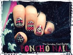 Tartines et moi ...ou autres histoires d'Odile Sacoche // poncho nail // the sunday nail battle