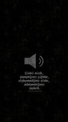 Çünkü müzik, atamadığımız çığlıklar, söyleyemediğimiz sözler, anlatamadığımız şeylerdi...