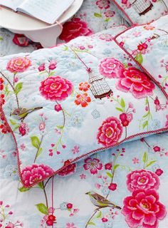 Pip Studio Birds of Paradise white quilt - Shabby Chic Quilts