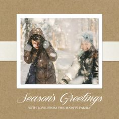 Mixbook Kraft Season's Greetings Holiday Photo Cards
