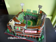 Every Last Stylish Detail: March 2011 Fenway Park Cake ~ Yes Please!
