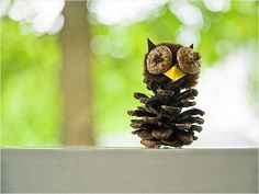 DIY Your Life: 15 Recycled Crafts Projects For Kids from Our Favorite Bloggers - Pinecone Owls