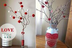 Ideas decoración San Valentín 2013: Ramas secas