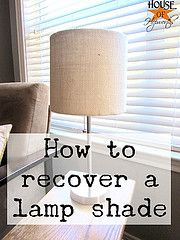 Repairing/recovering old or damaged lamp shades. Better than buying a new one!