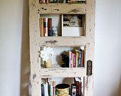 Vintage Door Repurposed  Bookshelf- WOODie (Shelf 012). $300.00, via Etsy.